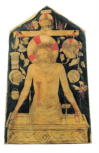 BEATO ANGELICO e collaboratore, Imago pietatis con i simboli della Passione, 1446-50 c